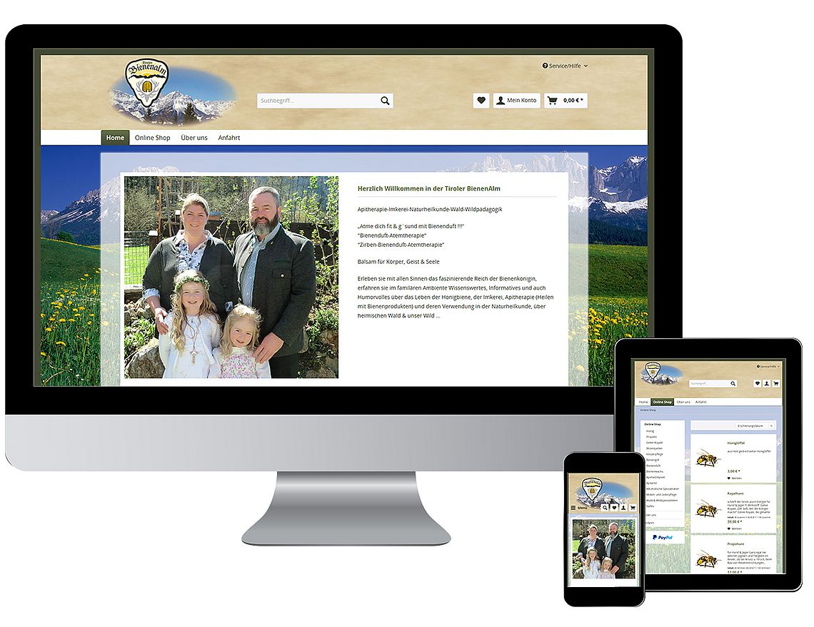 Onlineshop-Shopware-Honig-Responsive-Webseite