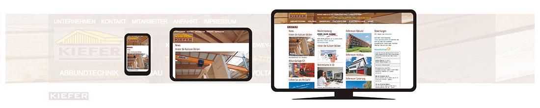 responsive Webseite Kiefer-Holz