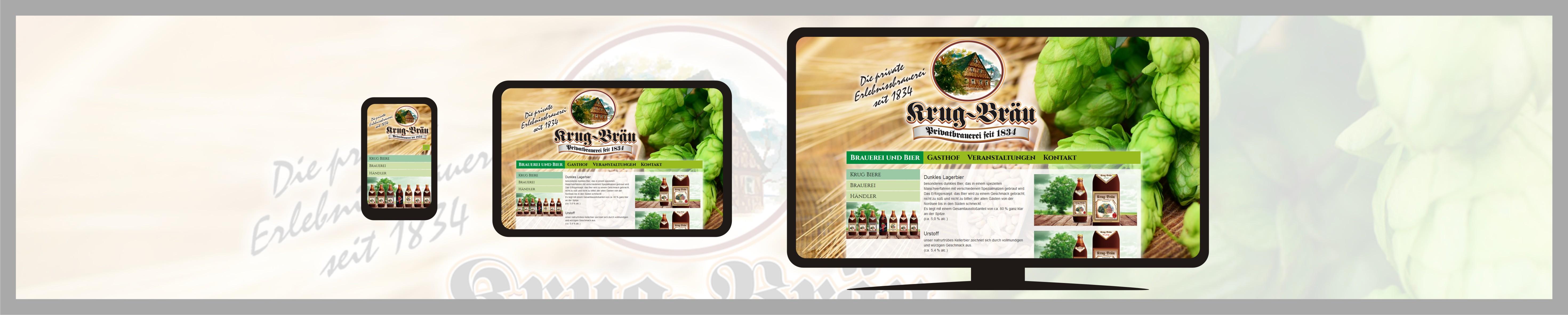 responsive TYPO3 Webseite Brauerei Krug